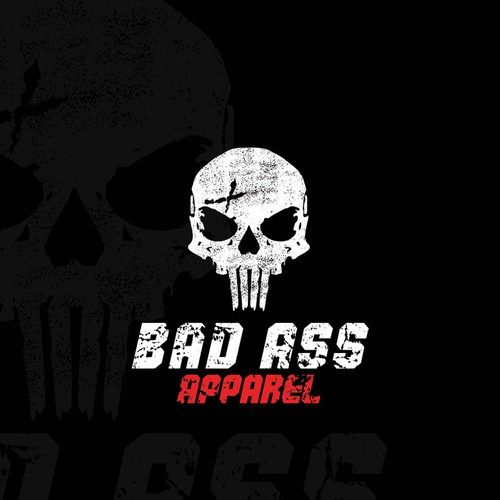 Bold , bad ass skull logo