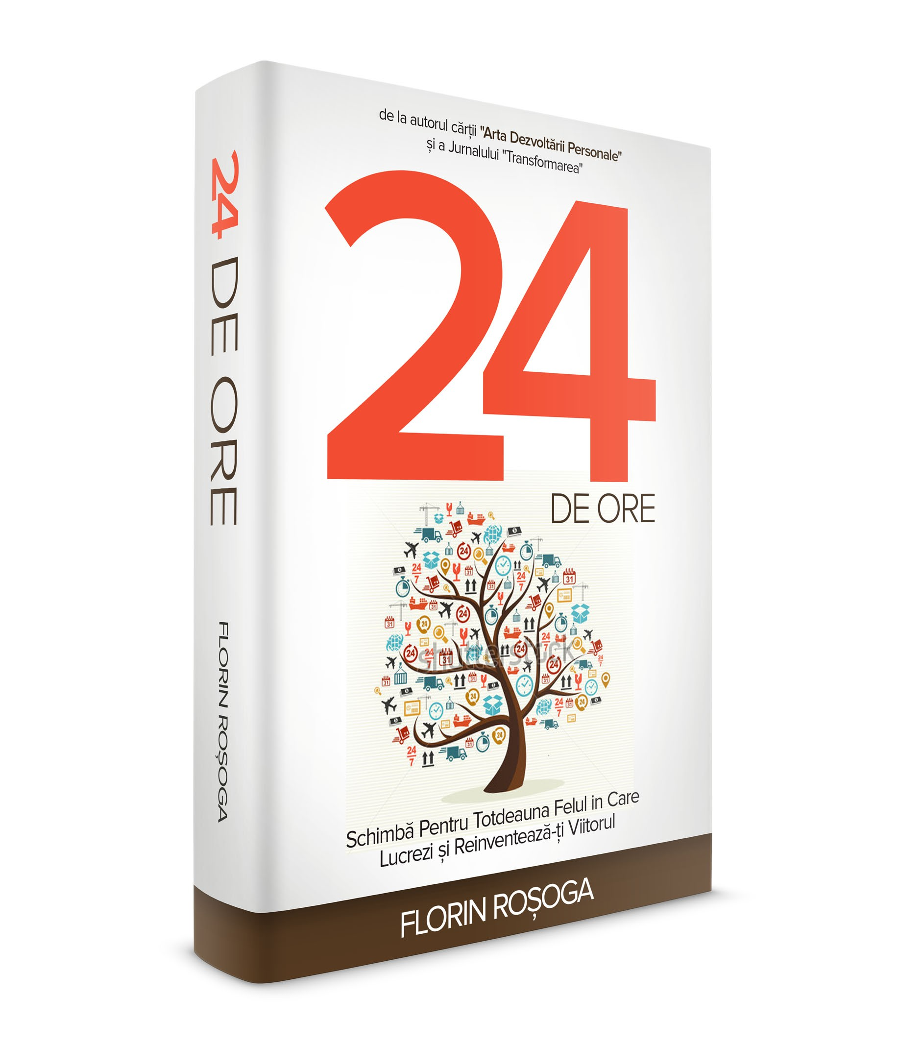"""Design a eyecatching book cover for """"24 Hours"""" Romanian book on time management and personal product"""
