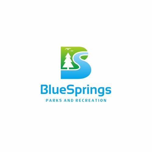 Blue Spring Park and Recreation Logo