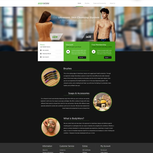 New website design wanted for BodyWorx