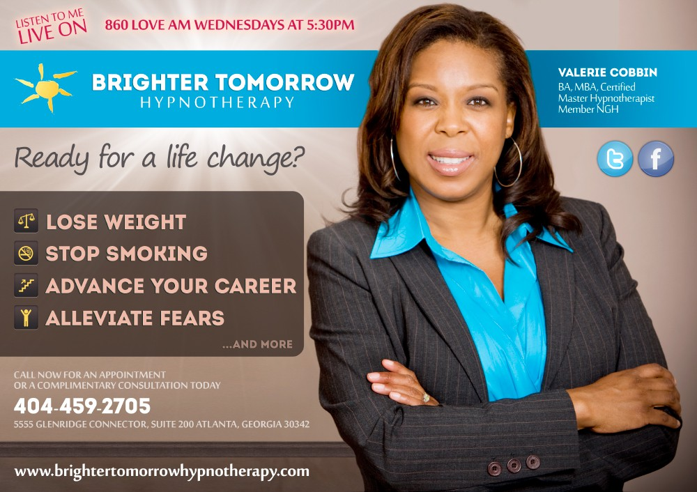 Brighter Tomorrow Hypnotherapy needs a new banner ad