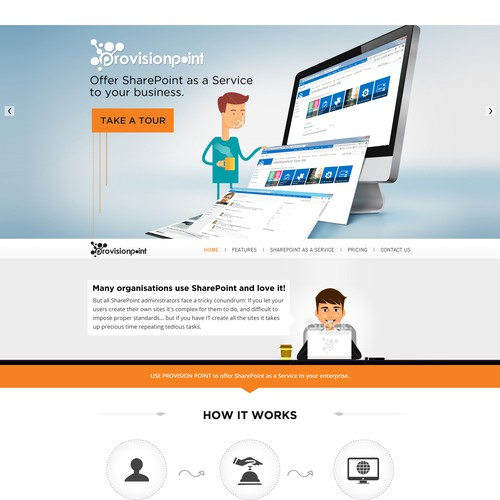 Create a modern, fun and responsive design for a new online service