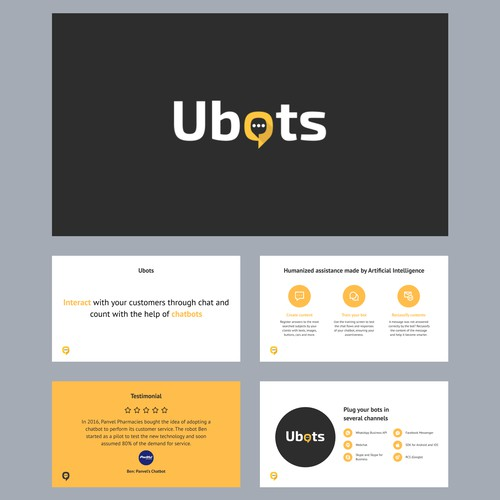 Presentation Template for Ubots