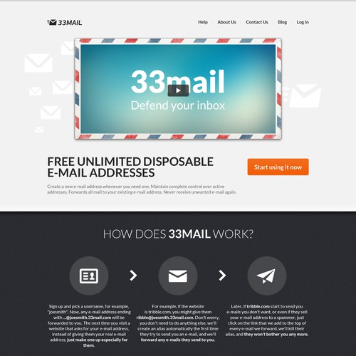 website design for 33Mail