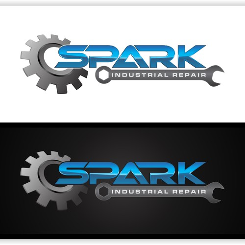 logo for spark industrial repair