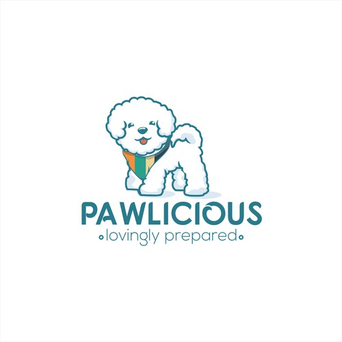 Logo for fresh dog food company in UAE