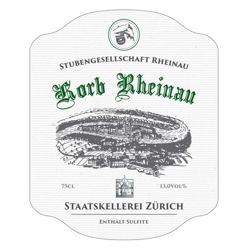 Wine label, old feeling
