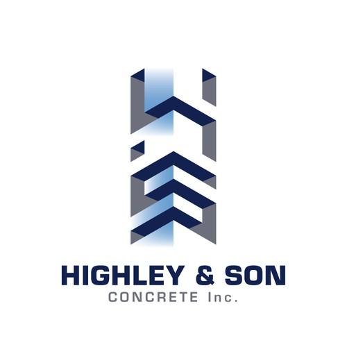 Logo voor een bouwbedrijf gespecialiseerd in beton