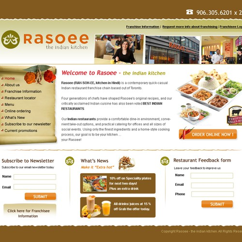 Web Redesign for a fast growing restaurant franchise