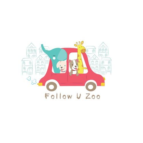 logo for follow u zoo