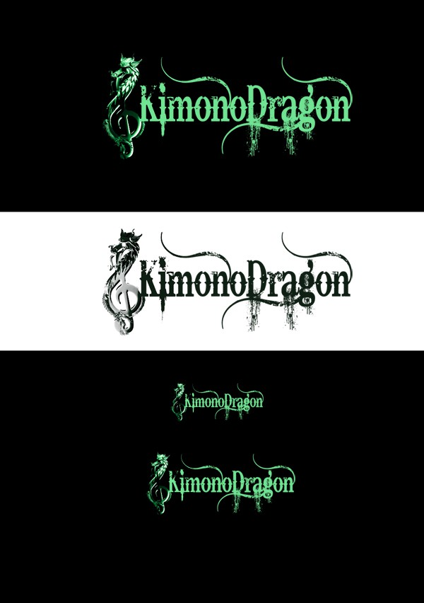 Create the next logo for Kimono Dragon