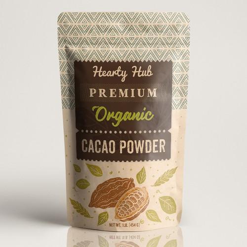 Premium organic cacao powder