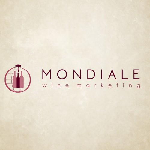 Create a visually captivating logo for an international wine marketing and strategy company