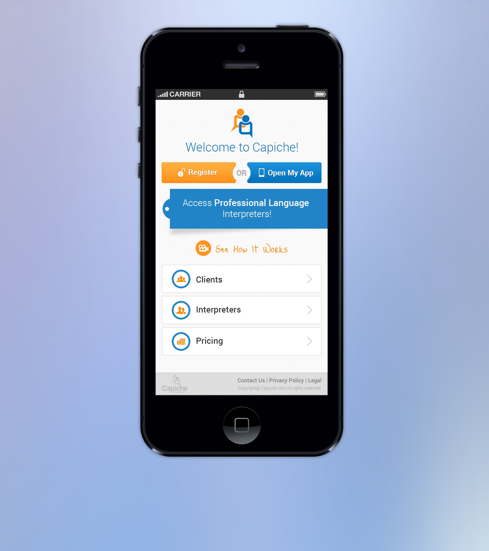 website or app design for Capiche