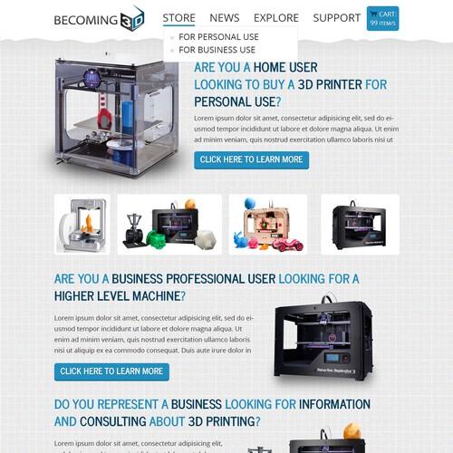 Becoming 3D needs a website design