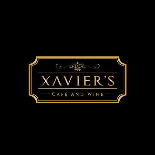 Logo concept for Xavier's Cafe and Wine