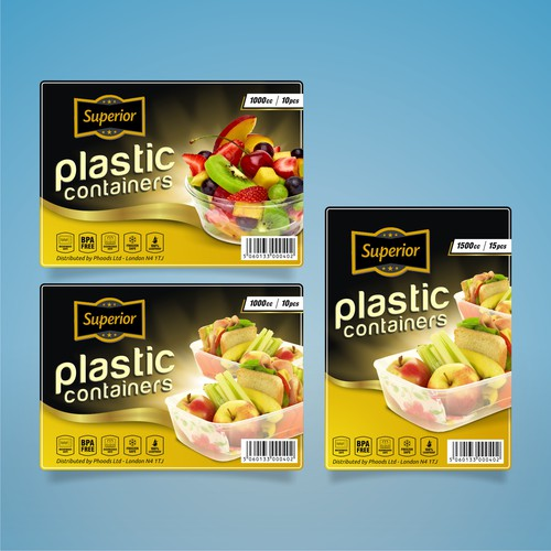 SUPERIOR - Plastic Containers Labels