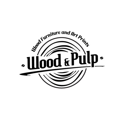 "Create a logo for Art and Furniture Gallery, ""Wood & Pulp"""
