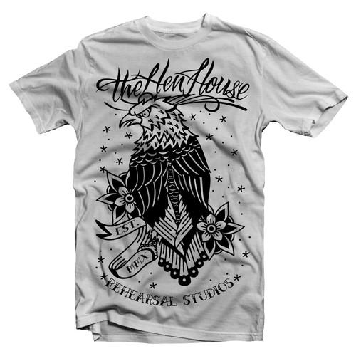 Traditional eagle flash tattoo design