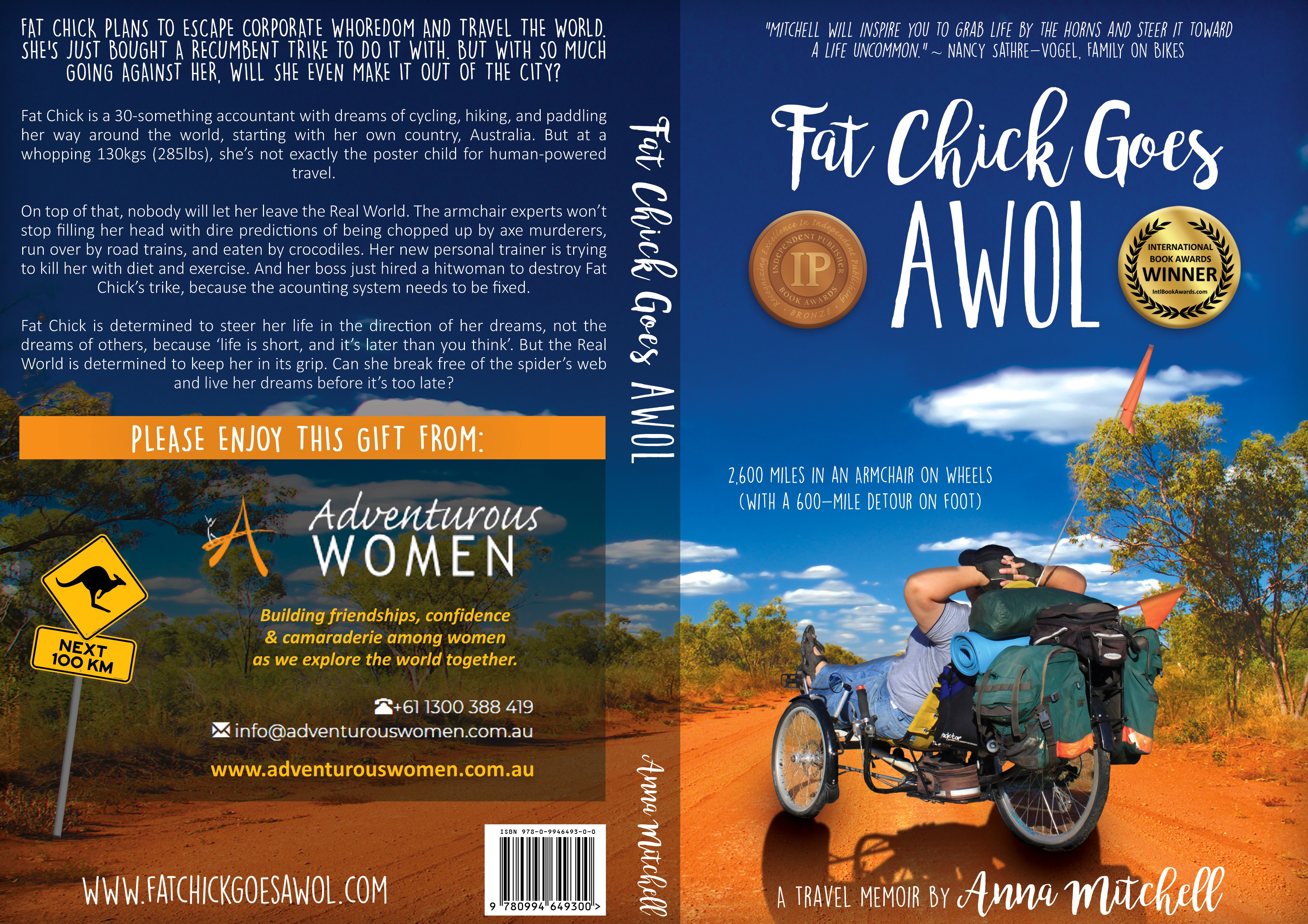 Custom Back Cover for 'Fat Chick Goes AWOL' (Invoice in USD)