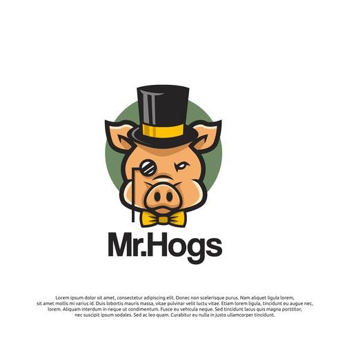 logo concept for Mr.Hogs