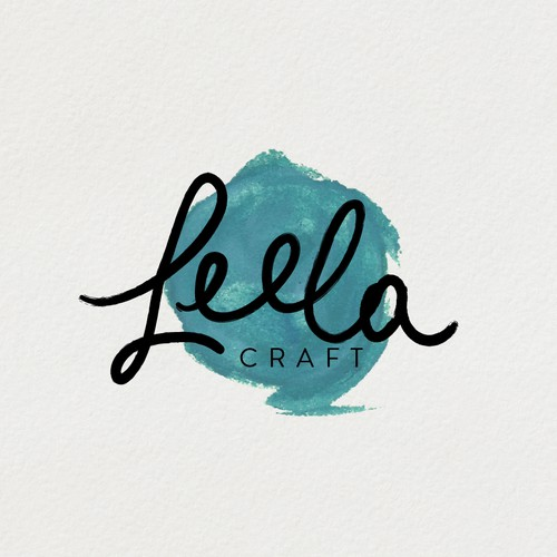 Hand painted logo for scrapbooking business