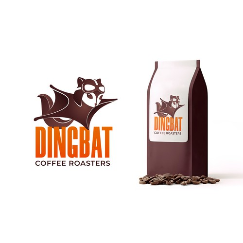 Dingbat Coffee Rosters Logo Concept