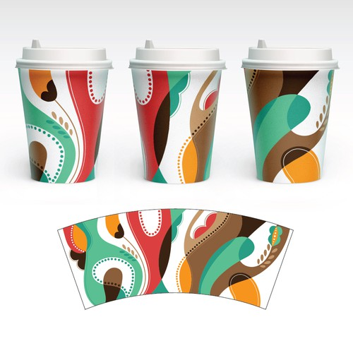 Elegant Artwork for Paper Cups