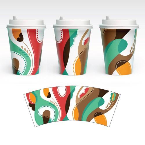 Elegant Artwork for Paper Cups