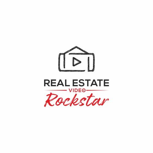 Real estate video rock-star logo