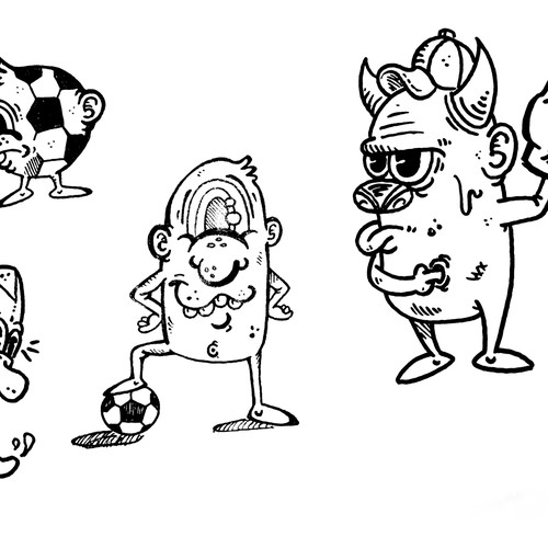 Crazy Sport Characters