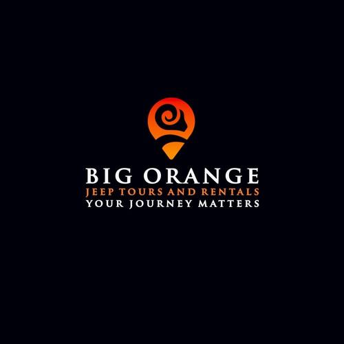 «Big Orange Jeep Tours and Rentals» logo