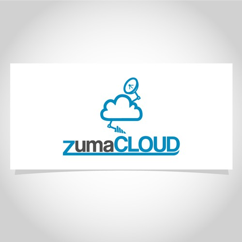Logo concept for an online cloud service