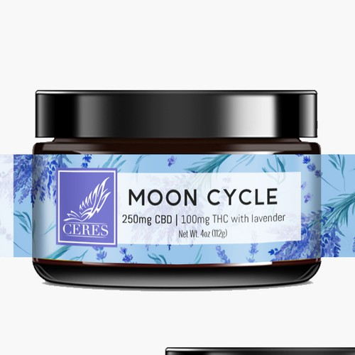 CBD Bath Salt Label Design