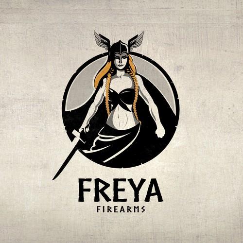 Norse Female Warrior logo