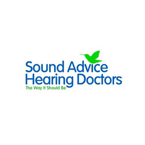 Hummingbird theme for hearing aid logo