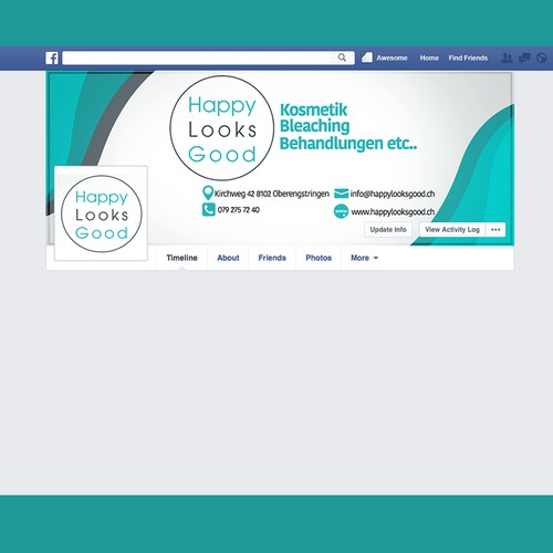 HAPPY LOOKS GOOD Facebook Cover