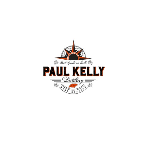 Paul Kelly Distillery Logo Design