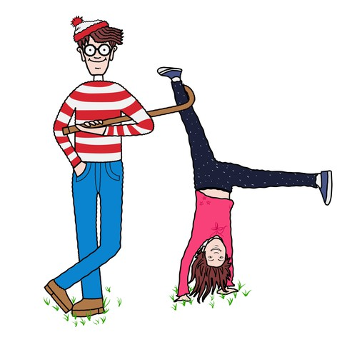 Where's waldo style character design