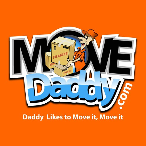 "Help a COOL company ""MoveDaddy.com create a Cartoon Logo for  new Franchise (GUARANTEED WINNER)!"