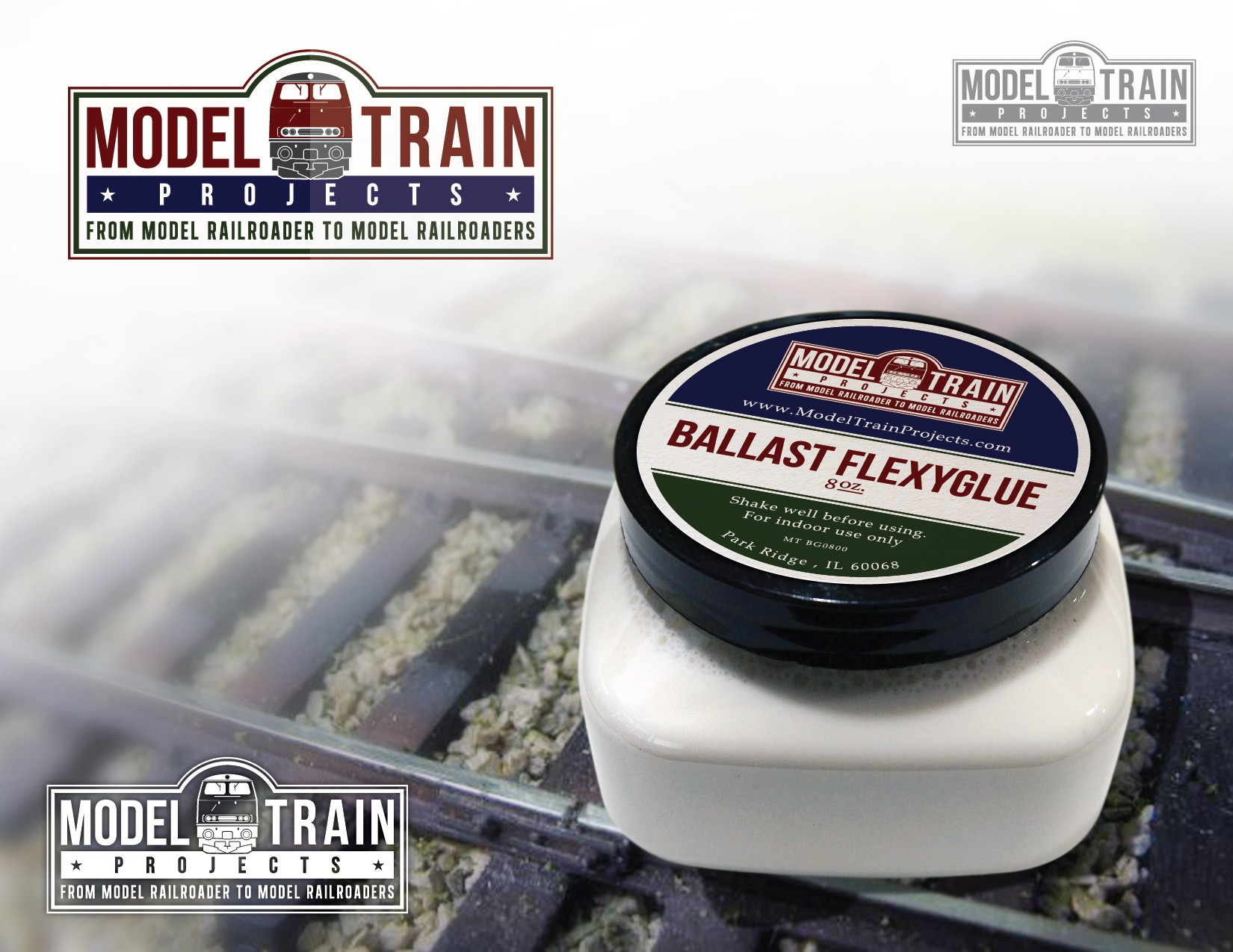 Create an eyecatching design including German model trains, for Model Train Projects