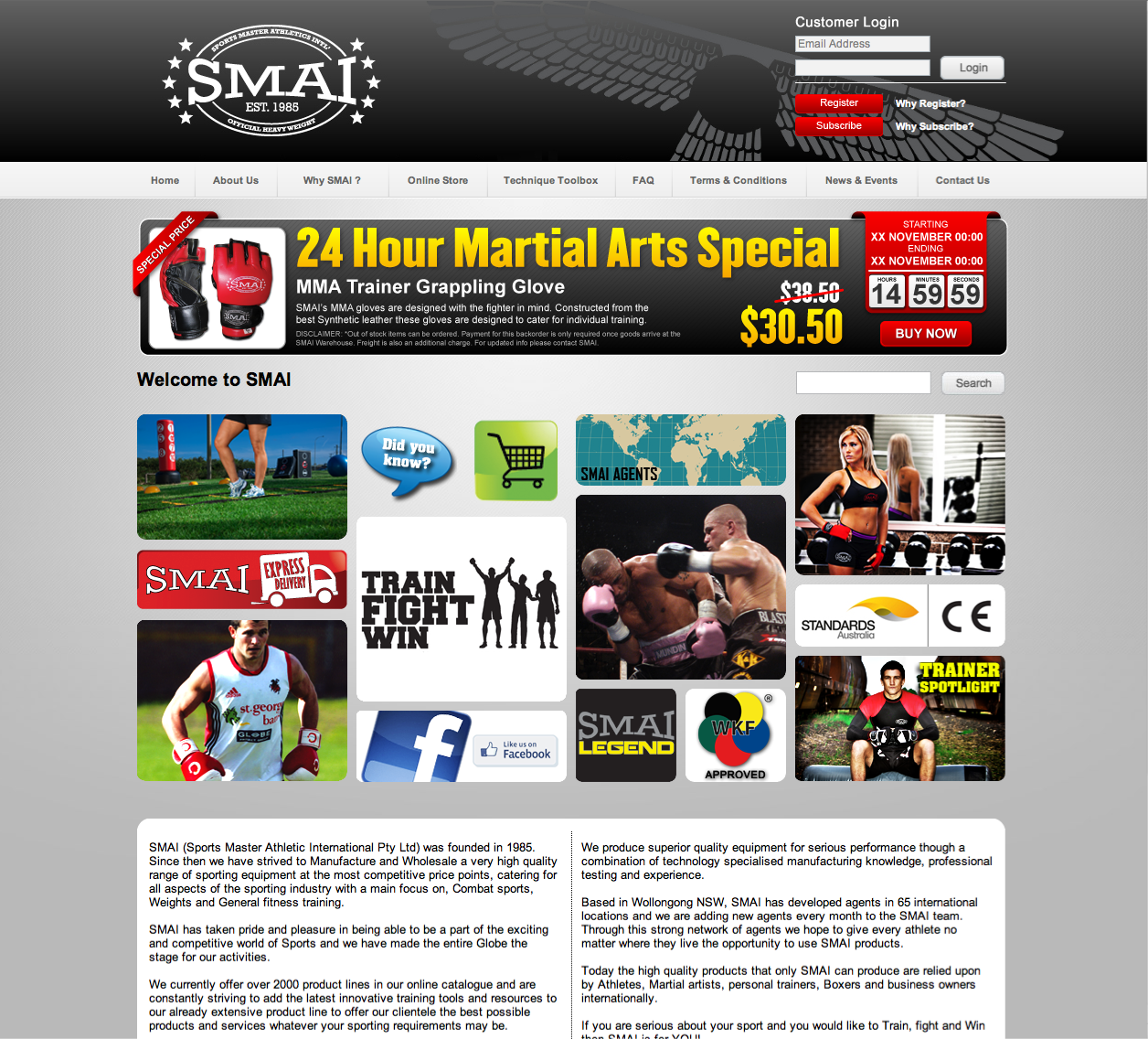 banner ad for Sports Masters Athletics International