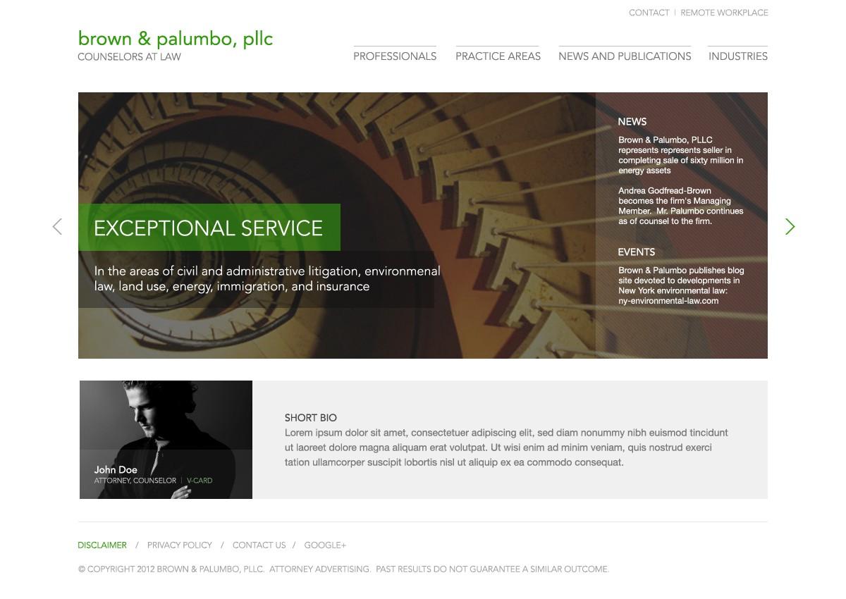 Brown & Palumbo, PLLC needs a new website design