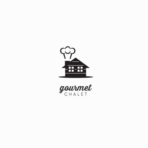 Cute Gourmet Food Website Logo