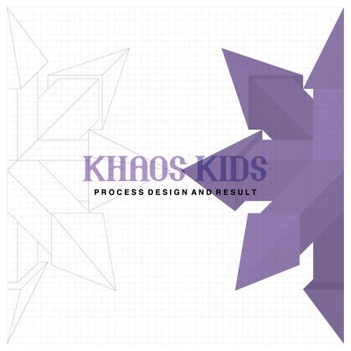 geometric logo for Khaos Kids a team that likes to break rules