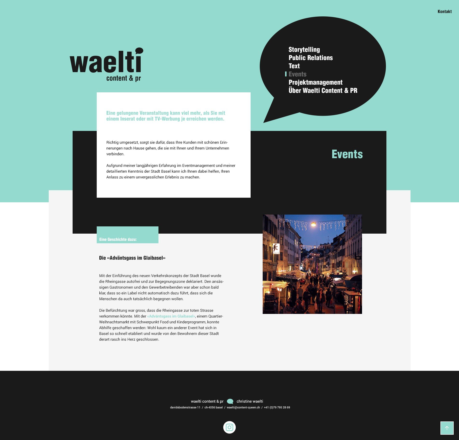 Design website content-queen.ch