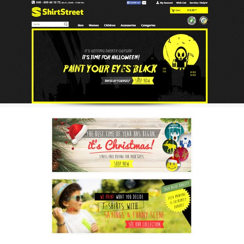 sliderbanners for our mainpage/landingpage
