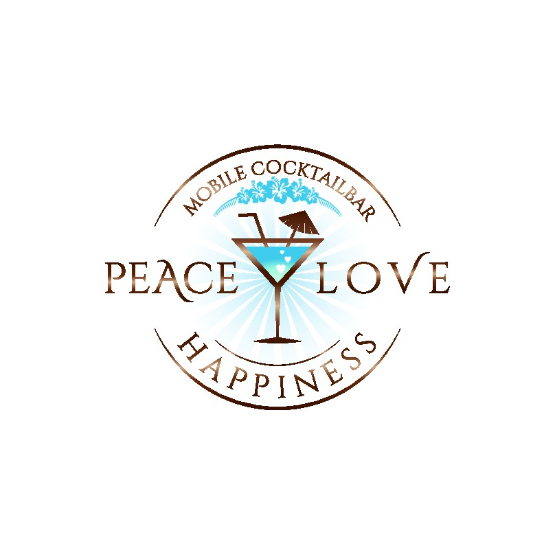 Erstelle Webdesign und Logo : Peace Love and Happiness - mobile Cocktailbar