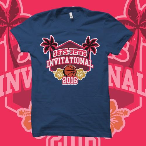 T-Shirt Design for Basketball Invitational Tournament