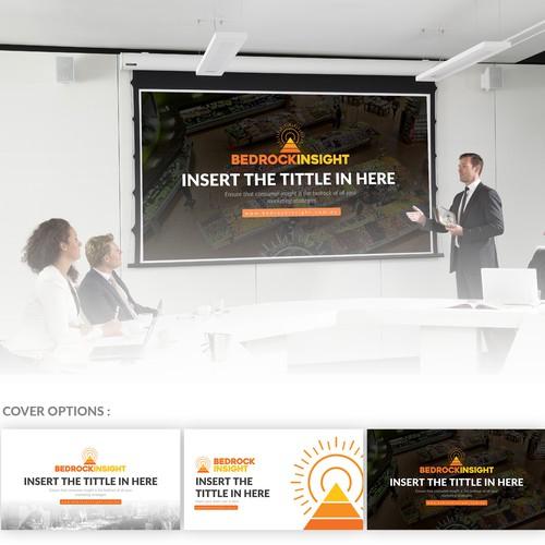 Vibrant powerpoint template using brand logo!
